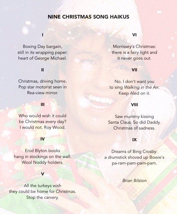 christmas song haikus