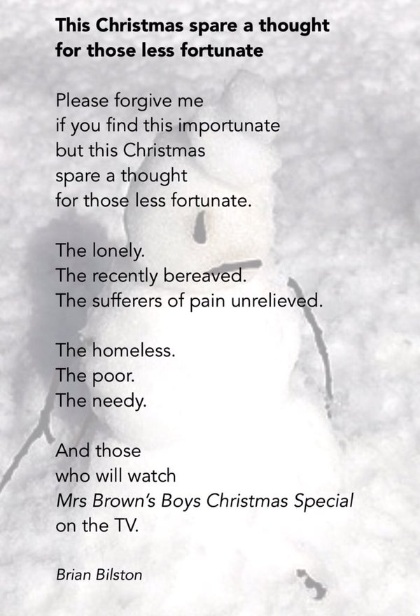 December 4 This Christmas Spare A Thought For Those Less