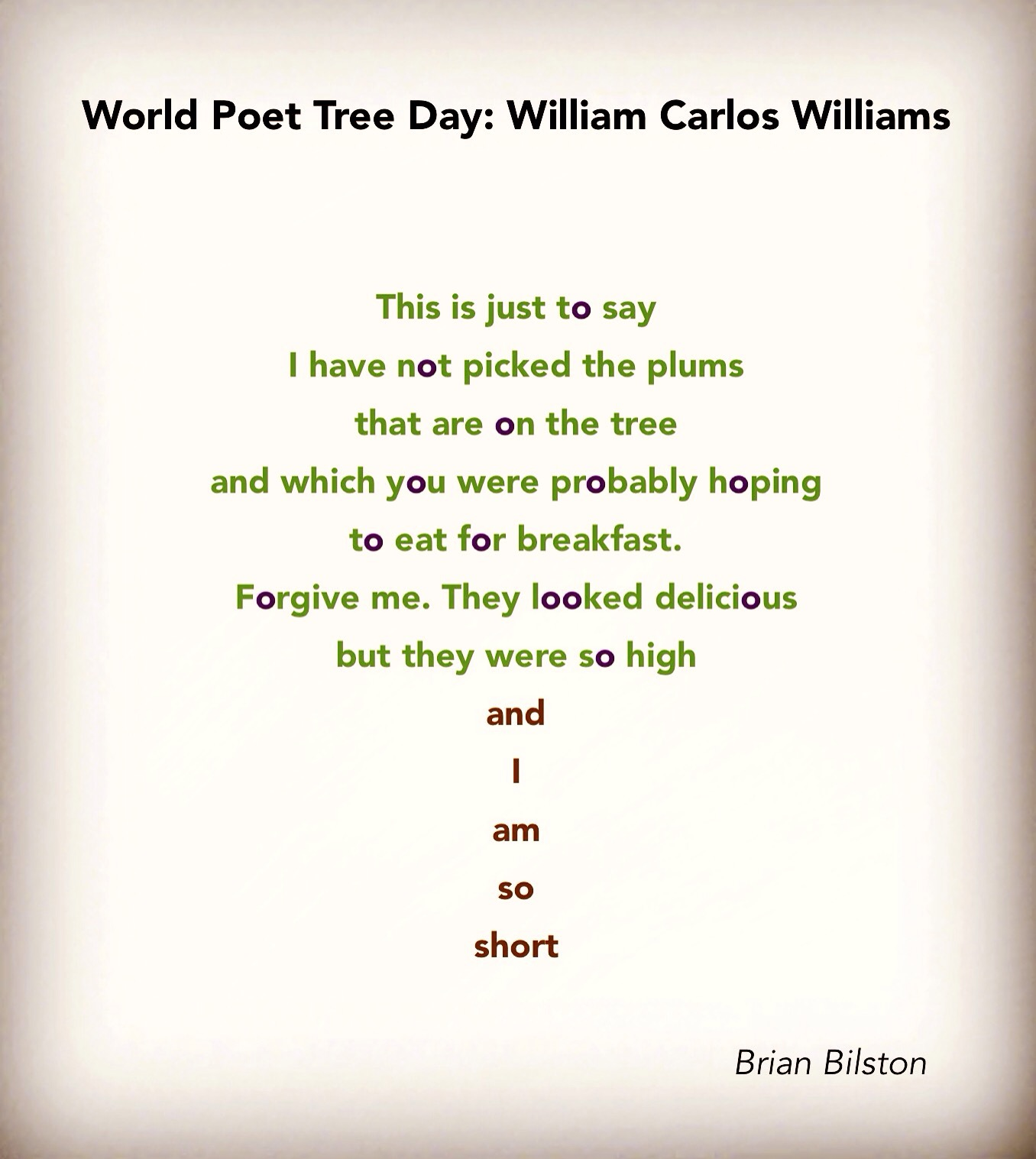 Trees Brian Bilston S Poetry Laboetry Silent guardians, towering giants, of every shape and size. trees brian bilston s poetry laboetry